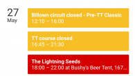 How about this then? Every planned road closure, every race, every practice, every TT Beer tent gig! Download the Bushy's TT 2017 smartphone calendar and have all the information you […]